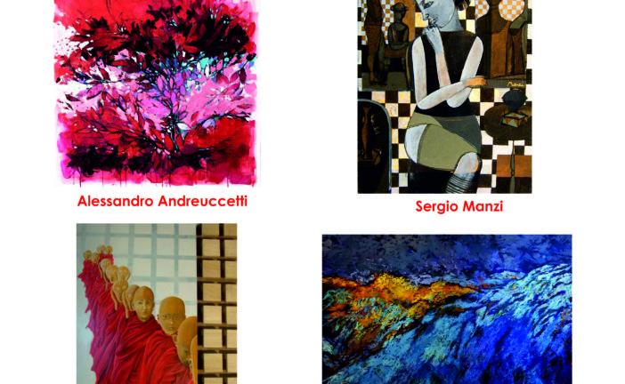 Quattro artisti espongono al centro congressi di Casole