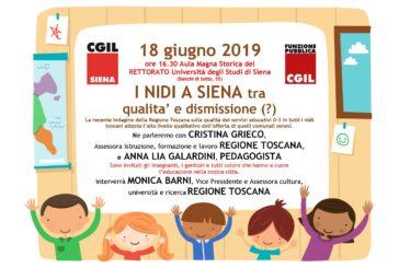 """18 giugno: """"I nidi a Siena tra qualità e dismissione (?)"""""""