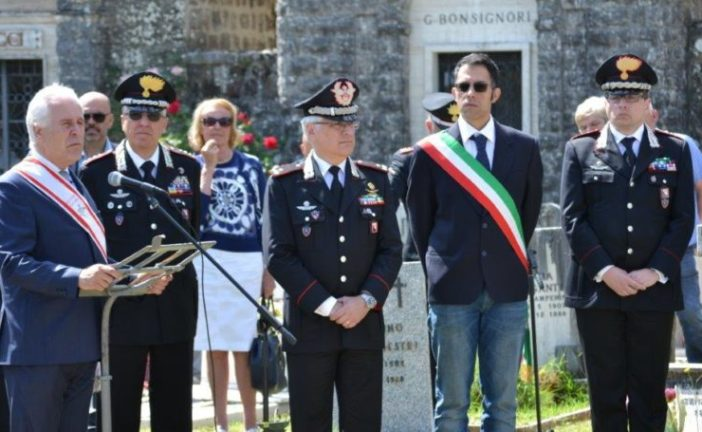 Commemorati dai Carabinieri e dalla comunità i caduti di Radicofani