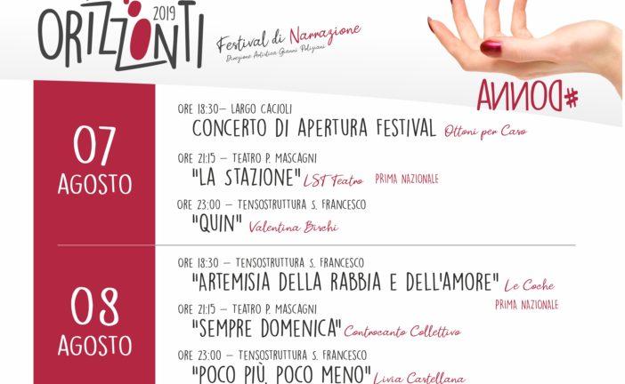 Chiusi diventa un centro di Narrazione per il Festival Orizzonti 2019