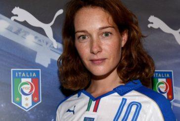 Cristiana Capotondi all'open day del calcio femminile Robur