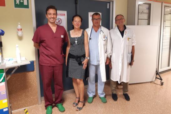 Colpita da malore nel 2018, torna e ringrazia i medici del Dea