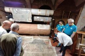 """Asciano: tornano """"a casa"""" gli affreschi del '300 strappati a Palazzo Bargagli Stoffi"""