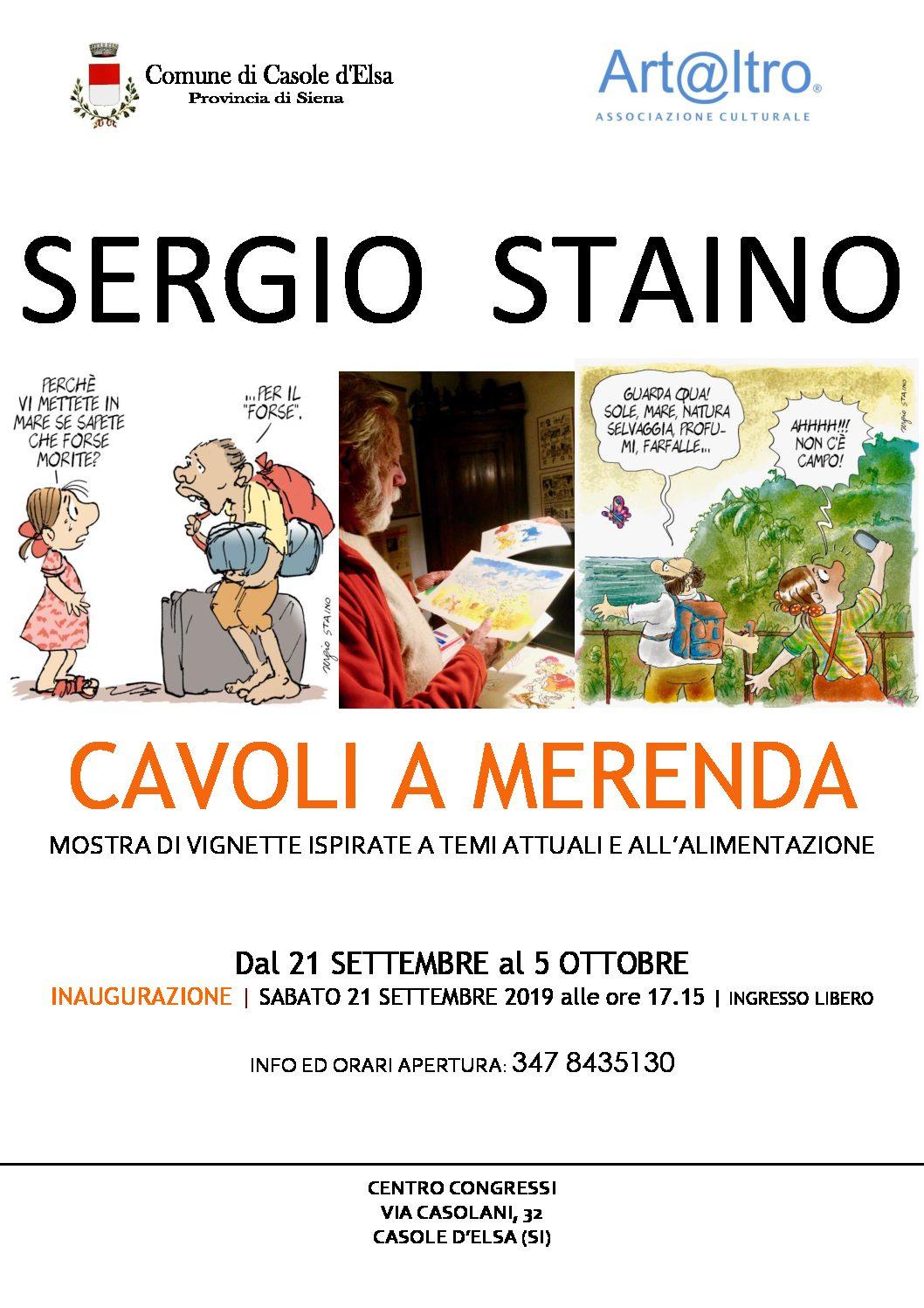 """Sergio Staino a Casole d'Elsa con la mostra """"Cavoli a merenda"""""""