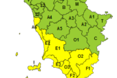 Allerta giallo per maltempo nella Toscana Sud