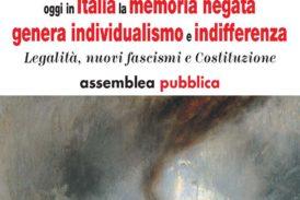 """A Siena si parla di """"Legalità, nuovi fascismo e costituzione"""""""