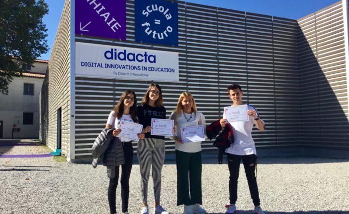 I Licei Poliziani premiati a Didacta per il progetto di realtà aumentata