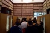 Classe del Sarrocchi in visita all'archivio di Stato di Siena