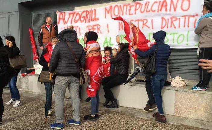 Lavoratori Autogrill Montepulciano: proclamato il primo giorno di sciopero