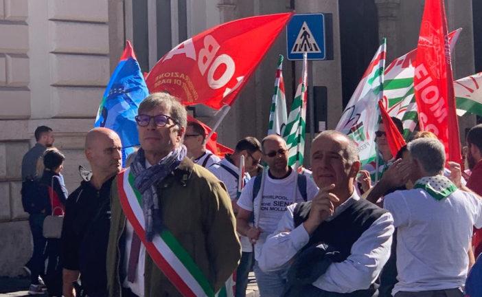 Cisl Siena a Roma per sostenere il futuro della Whirpool