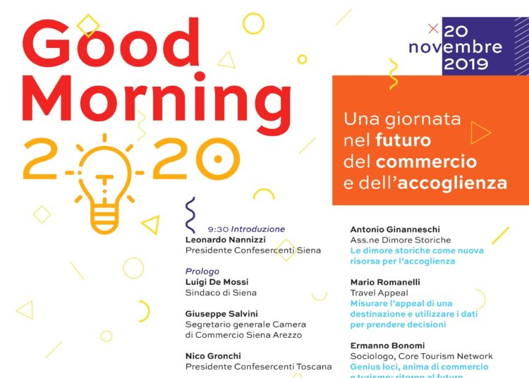 Good morning 2020: Confesercenti invita gli innovatori a Siena - Il Cittadino on line