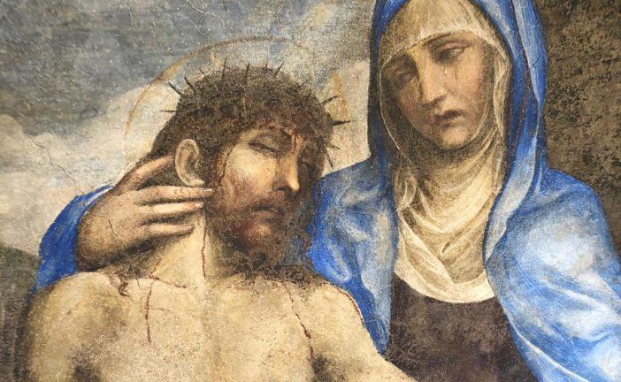 Inaugurato il restauro della Madonna del Corvo