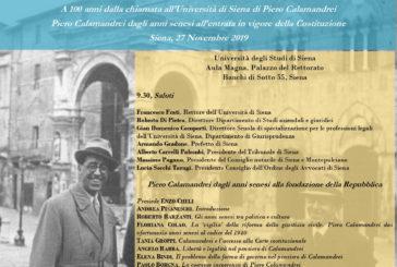Il 27 novembre Roma e Siena ricordano Piero Calamandrei