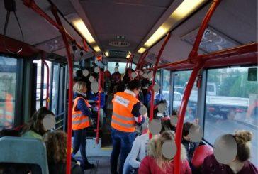 Bilancio di un mese di controlli congiunti sui bus