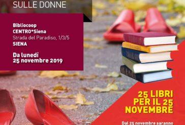 25 libri per il 25 novembre alla bibliocoop del centro*Siena