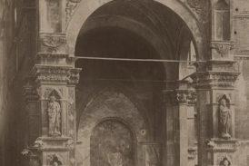 Visita al cantiere di restauro dell'affresco del Sodoma della Cappella di Piazza
