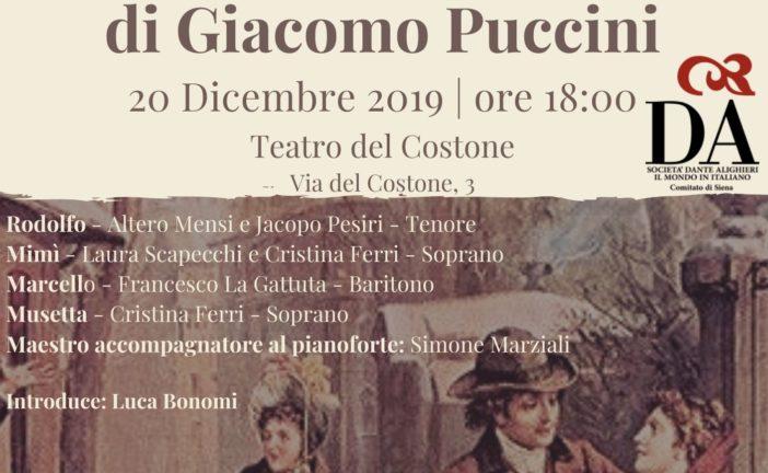 """Al Teatro del Costone arrivano """"Scene de La Bohème"""""""