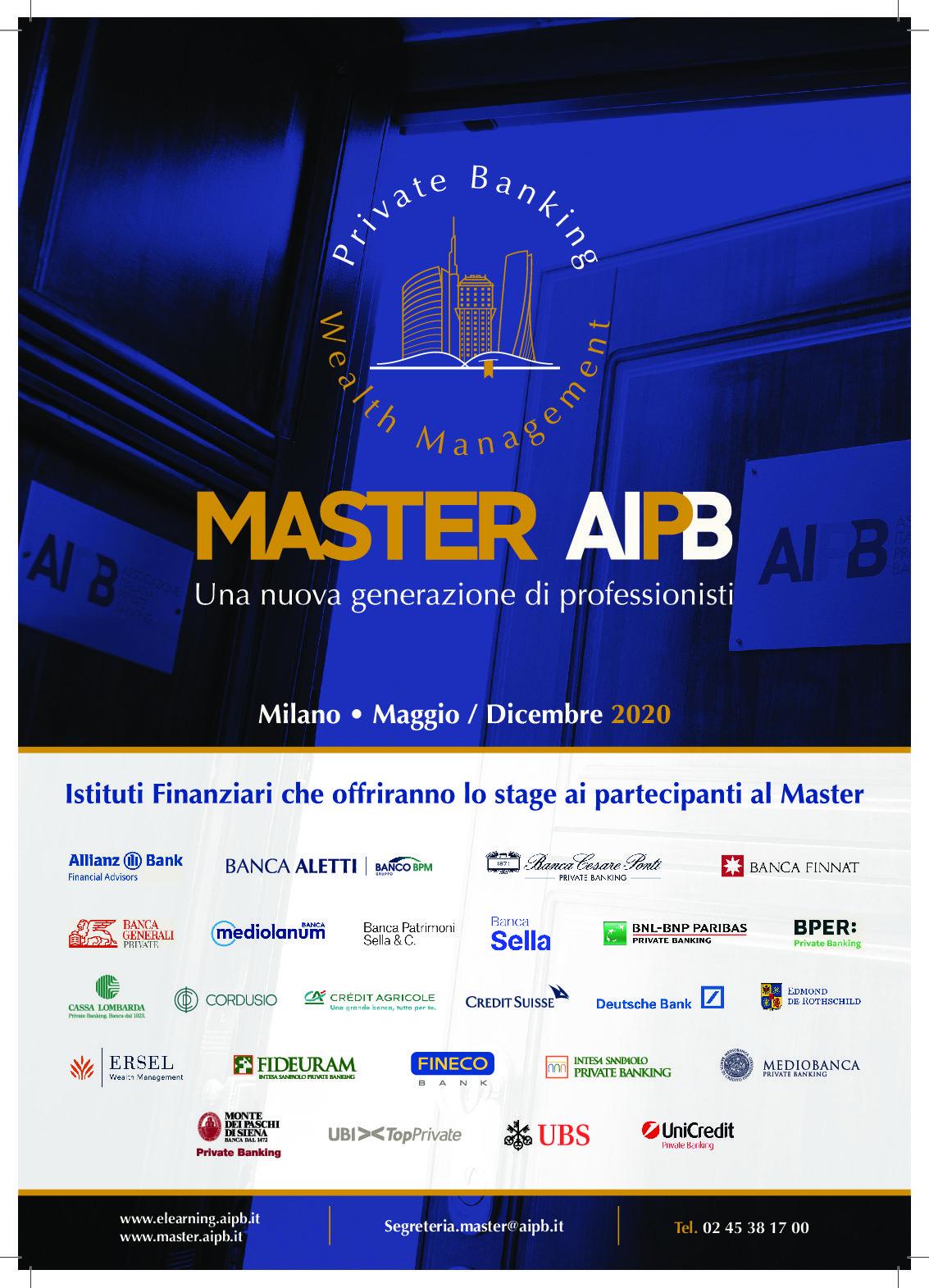 Al via il primo master in private banking