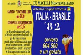 """""""Italia – Brasile '82 ovvero 604.500 e un gelato"""" spettacolo agli Ex Macelli"""