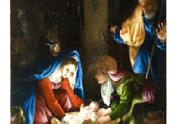 """Nel cortile rinascimentale nuovamente esposta la """"Natività"""" di Lorenzo Lotto"""