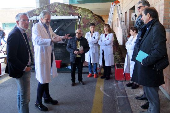 Presentato a Nottola il percorso pre-triage per contenere il coronavirus