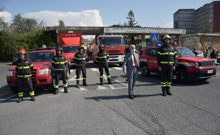 """Il """"grazie"""" dei Vigili del fuoco ai professionisti delle Scotte"""