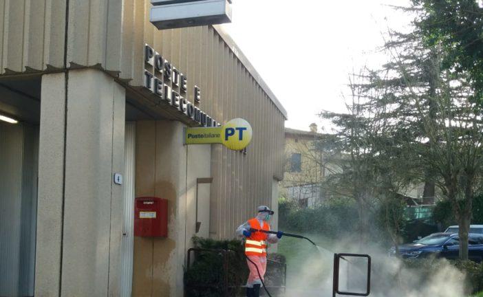 Monteriggioni: in corso la sanificazione di luoghi pubblici, strade e arredi urbani
