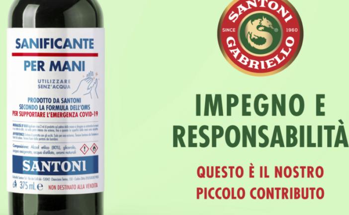 Covid-19: Santoni dona 2800 bottiglie di sanificante per mani