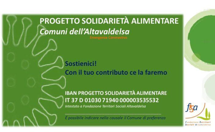Solidarietà alimentare in Valdelsa, attivata una raccolta fondi