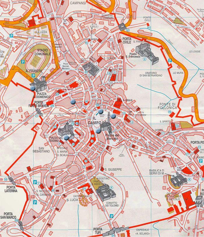 Cartina Italia Siena.Mappa Citta Di Siena Il Cittadino Online