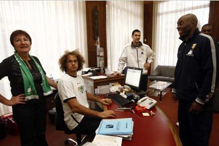 I biancoverdi visitano la filiale Mps di Lione
