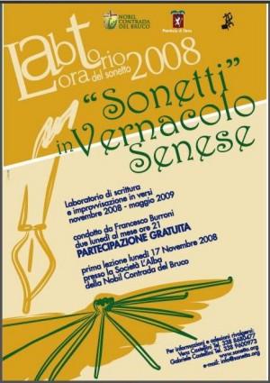 Laboratorio del sonetto in vernacolo, il successo della favella senese