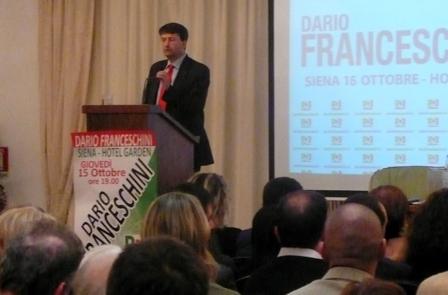 Franceschini a Siena invita ad andare a votare per rendere più forte il partito
