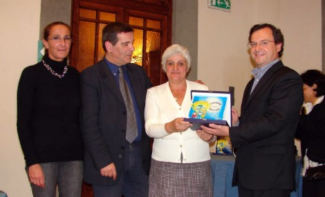 La media di Acquaviva a Firenze per ricevere il premio