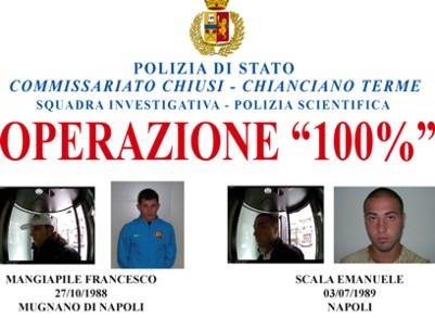 """Rapine in Valdichiana: la Polizia """"colpisce"""" al 100 per cento"""