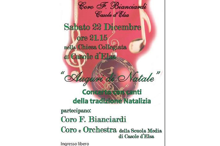 Casole: auguri di Natale in musica con il Coro Bianciardi
