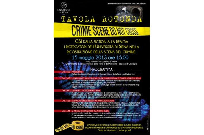 I ricercatori dell'Università di Siena sulla scena del crimine