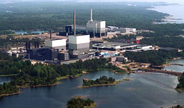 A fuoco una centrale nucleare svedese sabato notte